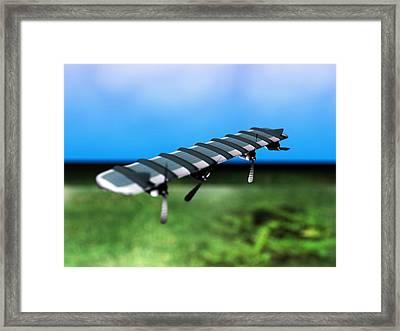 Solar Powered Aeroplane, Artwork Framed Print by Christian Darkin