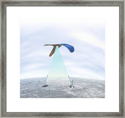 Solar-powered Flapping Wing Framed Print by Henning Dalhoff