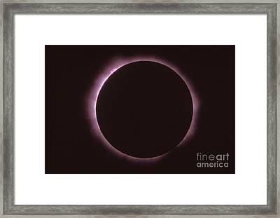 Solar Prominence And Chromosphere Framed Print