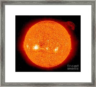 Solar Prominence Framed Print by Nasa