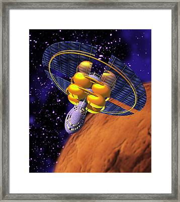 Solar Sail Spacecraft Framed Print by Victor Habbick Visions