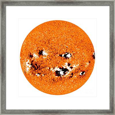 Solar Storm Activity, 2009 Framed Print by Science Source