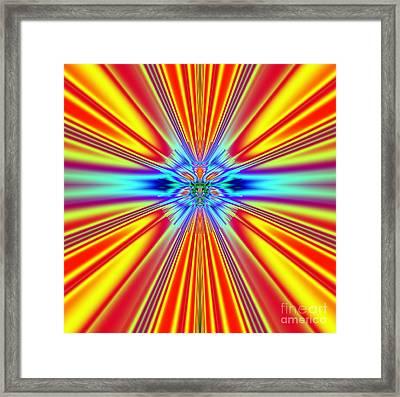 Solar Sun Flares Framed Print by Deborah Juodaitis