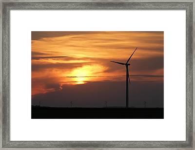 Solar Sunset Framed Print