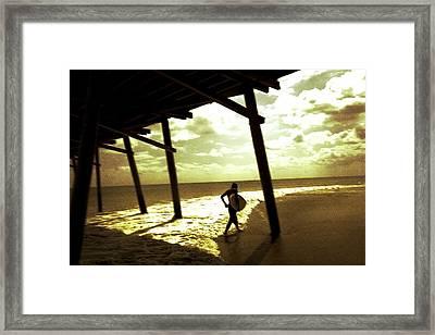 Solar Surf Framed Print by Jan Lakey
