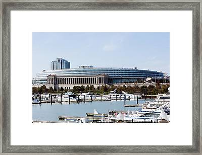 Soldier Field Chicago Framed Print by Paul Velgos