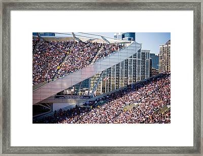 Soldier Field Crowd Framed Print