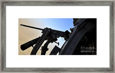 Soldier Mans The .50 Caliber Machine Framed Print by Stocktrek Images