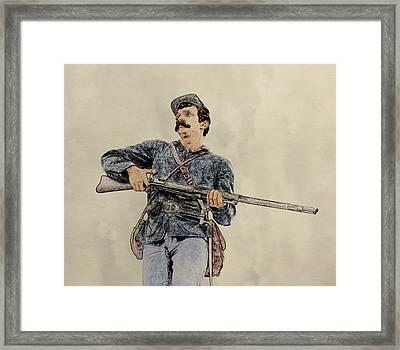 Soldier Of Gettysburg Framed Print by Randy Steele