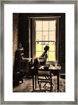 Soldier Of Old Times Framed Print by Karol Livote