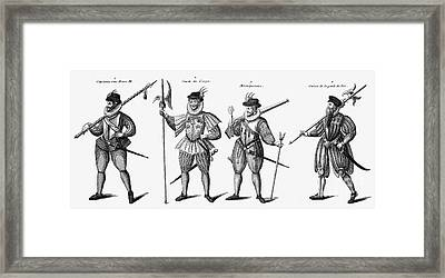 Soldiers, 16th Century Framed Print by Granger