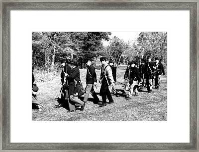 Soldiers March Black And White II Framed Print by LeeAnn McLaneGoetz McLaneGoetzStudioLLCcom
