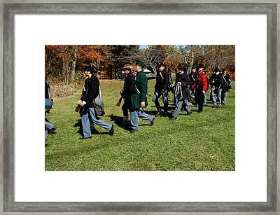 Soldiers March Two By Two Framed Print by LeeAnn McLaneGoetz McLaneGoetzStudioLLCcom