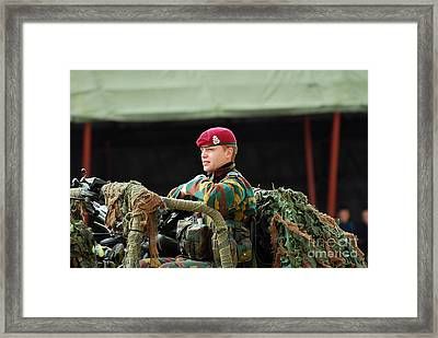 Soldiers Of A Belgian Recce Or Scout Framed Print by Luc De Jaeger