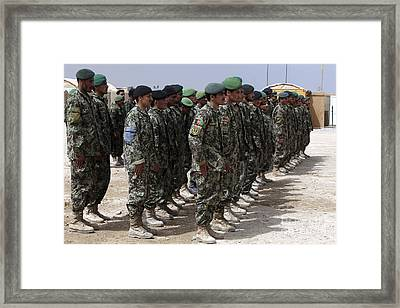 Soldiers Of The Afghan National Army Framed Print