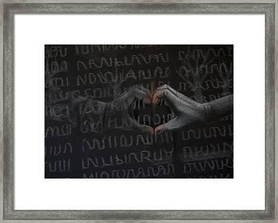 Soldier's Sacrifice Framed Print by Joanna Gates