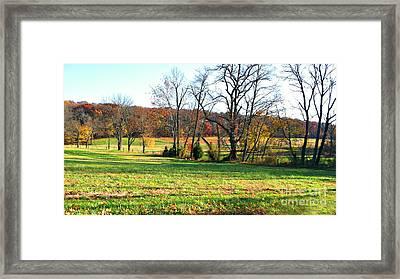 Solebury Fields Framed Print