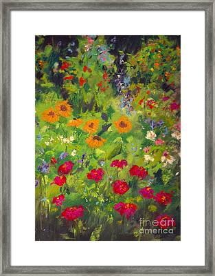 Solebury Garden Framed Print