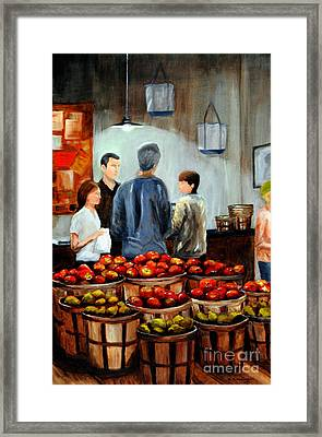 At The Market Framed Print by Cindy Roesinger