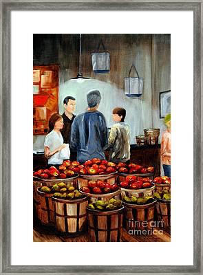 At The Market Framed Print
