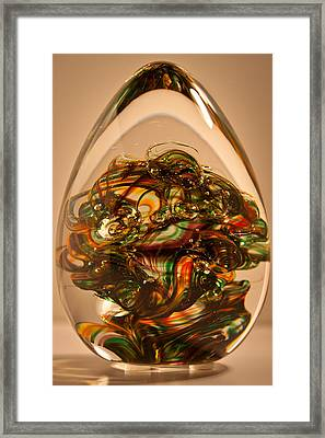 Solid Glass Sculpture E1p Framed Print by David Patterson