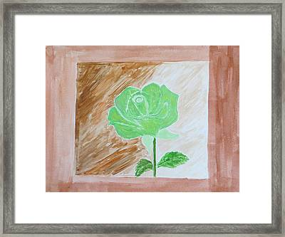 Framed Print featuring the painting Solitary Rose by Sonali Gangane