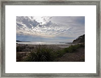 Solitary Sea Kayak At Dawn In Australia Framed Print