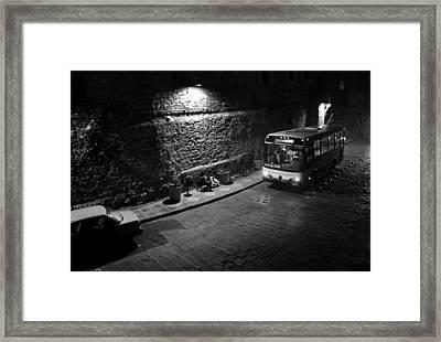 Solitary Wait Framed Print