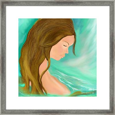 Framed Print featuring the drawing Solitude 1 by Lori  Lovetere
