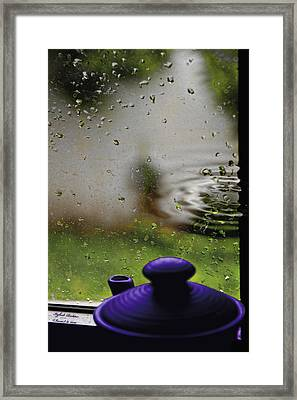 Solitude By The Window Framed Print by Itzhak Richter
