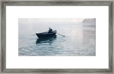 Solitude Christiana Fjord Framed Print by Fritz Thaulow