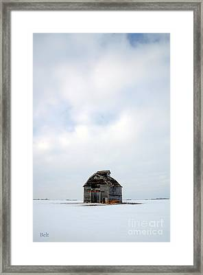 Solitude In Pure Framed Print
