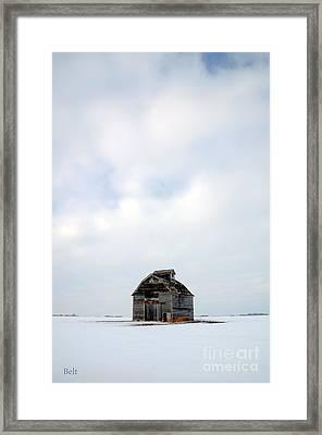 Solitude In Pure Framed Print by Christine Belt