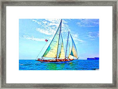 Solo Sailing Framed Print by Paula Greenlee