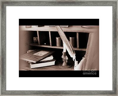 Framed Print featuring the photograph Some Things Belong On Paper  by Nancy Dole McGuigan