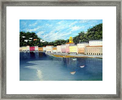 Framed Print featuring the painting Some Were On The Mediterranean by Larry Cirigliano