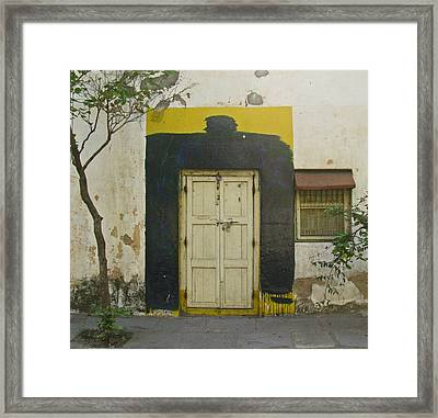Framed Print featuring the photograph Somebody's Door by David Pantuso