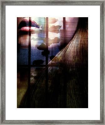 Someone Behind Framed Print by Claudia Boeckelmann