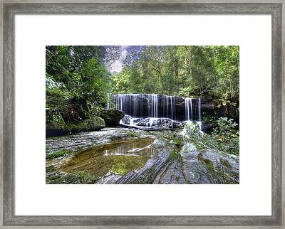 Somersby Falls Framed Print by Barry Culling