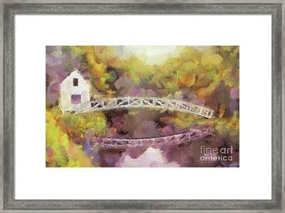 Somes Bridge - Somesville Maine Framed Print