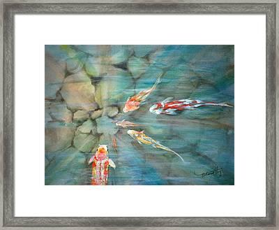 Something Fishy Framed Print by Mohamed Hirji