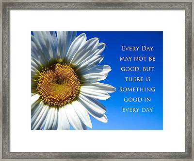 Something Good Framed Print