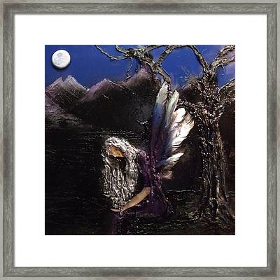 Framed Print featuring the mixed media Something Shiny by Angela Stout