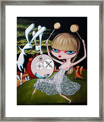 Something To Bang On About Framed Print by Leanne Wilkes