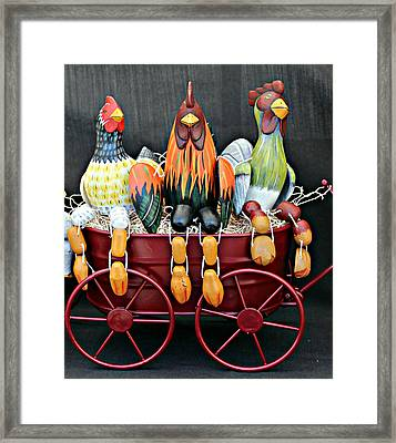 Framed Print featuring the photograph Something To Cluck About by Jo Sheehan