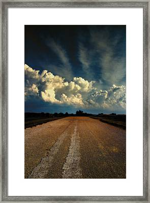 Something Wicked Ahead Framed Print by Bill Tiepelman