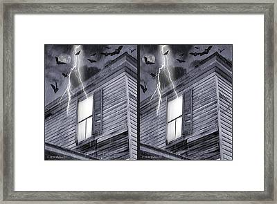 Something Wicked - Cross Your Eyes And Focus On The Middle Image Framed Print by Brian Wallace