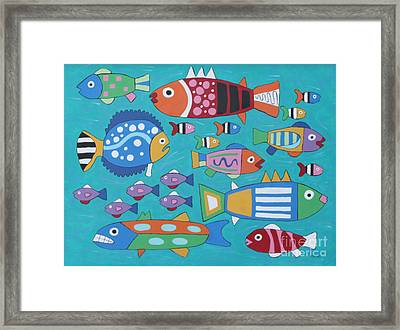 Something's Fishy Framed Print by Marilyn West