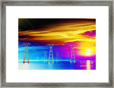 Something's Wrong At The Plant Framed Print