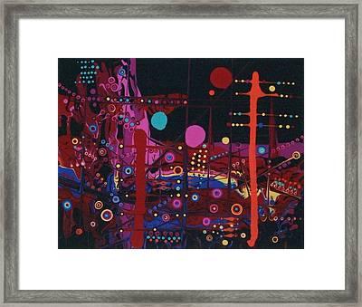 Sometimes I Even Dream In Neon Framed Print by Charlotte Nunn